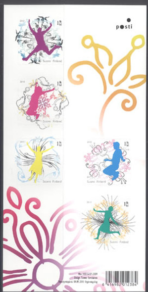 FINLAND- Jump For Joy- souvenir sheet- self-adhesive