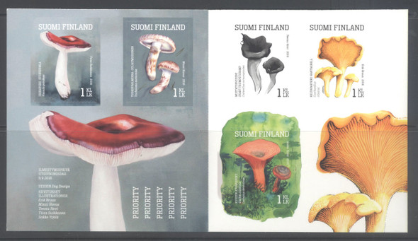 FINLAND- Mushrooms 2016 Booklet- self-adhesive
