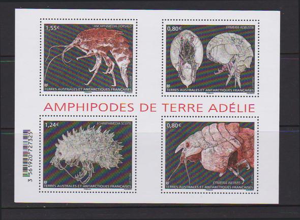 FR. ANTARCTIC (2016)- Amphipods- Sheet of 4