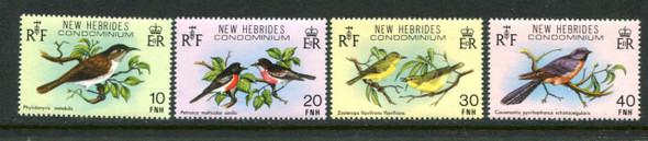 FR. NEW HEBRIDES (1980)- BIRDS (4v)
