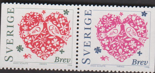 FRANCE (2006) Hearts by Scherrer. Two (2) Complete Sheets of 30, cv>$200 ONE SET!