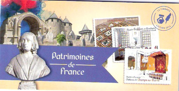 FRANCE (2013)- Patrimoines Booklet- self-adhesive- architectural heritage sites