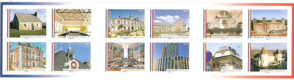 FRANCE (2015) : Town Halls Booklet- self-adhesive- architecture