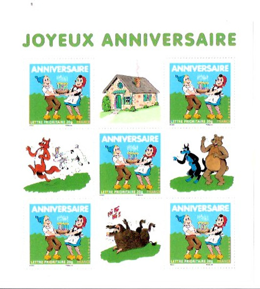 FRANCE- Anniversary of Sylvain and Sylvette comic series- sheet
