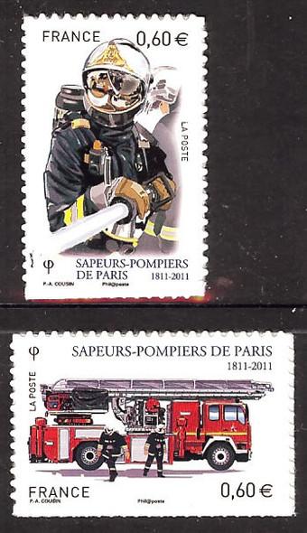 FRANCE- Paris Fire Brigade- self-adhesive- fireman- firetruck (2)