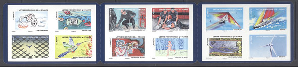 FRANCE- Stamp Festival 2013 Air Booklet-12 values-Sailboat,Wind Turbine, etc.