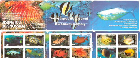 FRENCH POLYNESIA (2009) - Fish of Polynesia Booklet- self-adhesive book