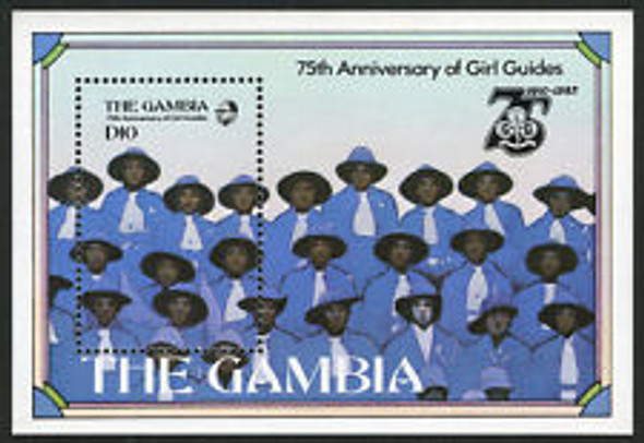 GAMBIA (1986) Scouting , Girl Scouts SS