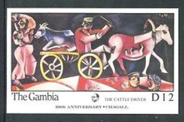 GAMBIA (1987) Chagall Art Ss Sheet