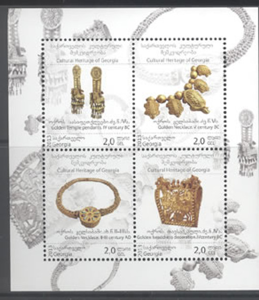 GEORGIA: Jewelry Cultural Heritage 2013- Sheet of 4