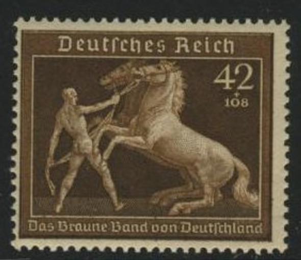 GERMANY (1936)- NUDE W/HORSE SEMI-POSTAL-MNH