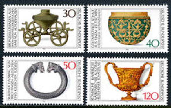 GERMANY (1976) Archaeological Treasures (4v)