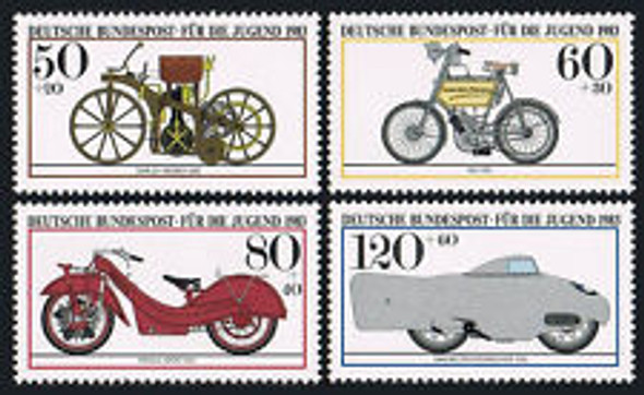 GERMANY (1983) Historic Motorclcles (4v)