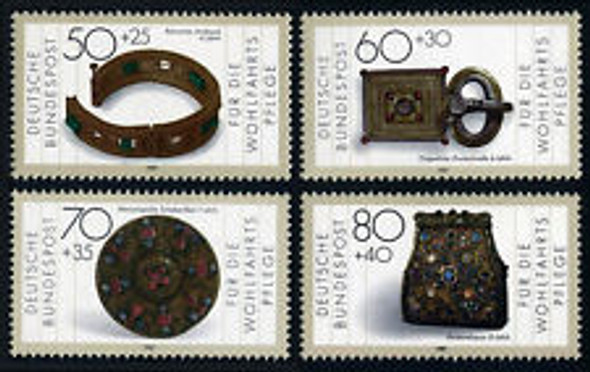 GERMANY (1988) Gold Silver Artifacts (4v)