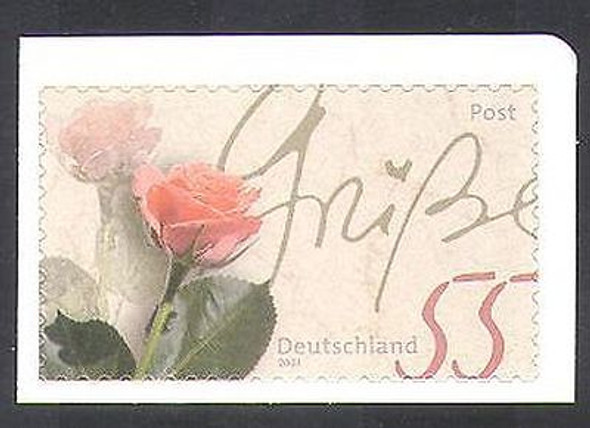 GERMANY (2003): Rose Greeting Stamp (self-adhesive)