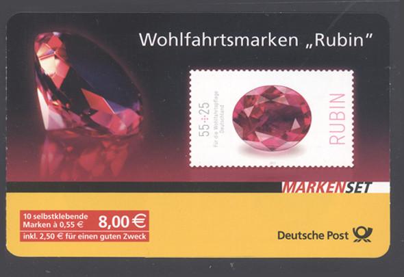 GERMANY (2012)- Gem Stones Booklet-l- ruby (10v)