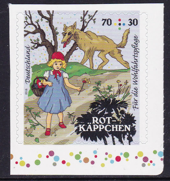 GERMANY- (2016) Grimm Fairytales Red Riding Hood- self-adhesive- semi-postal