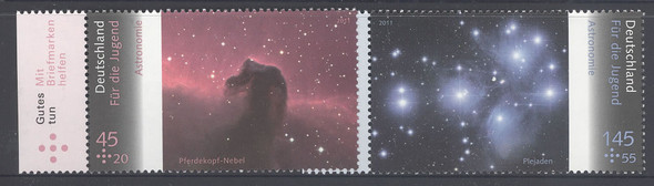 GERMANY- Astronomy- semi-postal- planets and stars (4)