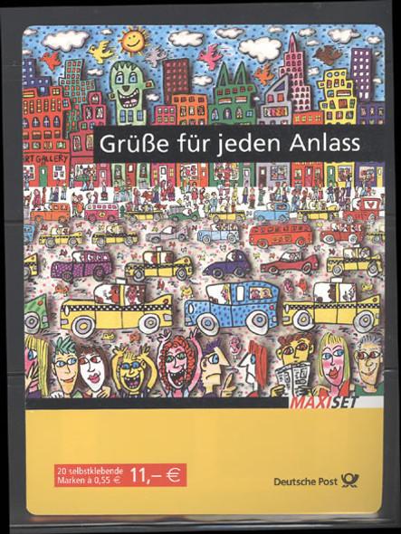 GERMANY- Europa 2008 Greetings Booklet- Cartoon Cats & Fish