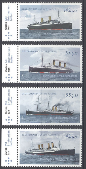 GERMANY- Steam Ships- semipostals (4)