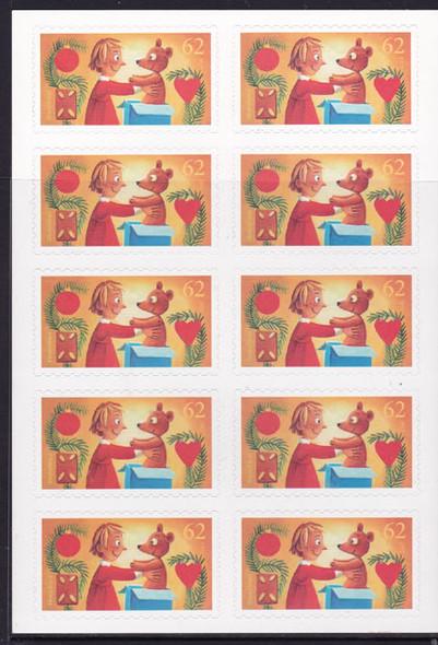 GERMANY: Christmas 2015 Teddy Bear Booklet- self-adhesive