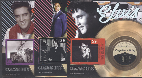 ELVIS PRESLEY- WORLDWIDE STAMP SHEET COLLECTION- 35 DIFFERENT!