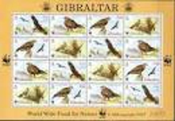 GIBRALTAR ( 1996( WWF BIRD Full Sheet