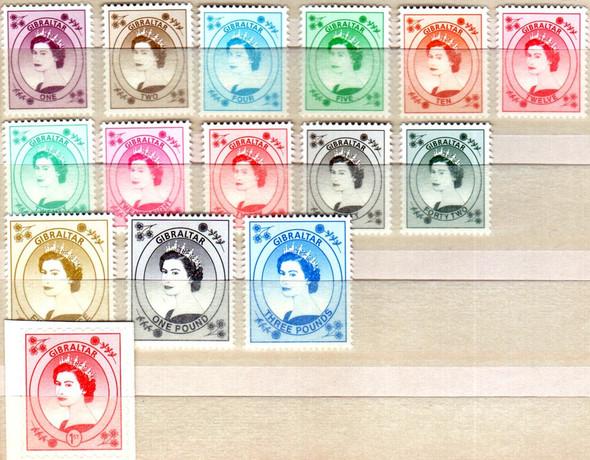 GIBRALTAR - Queen Definitives '99- 15 VALUES