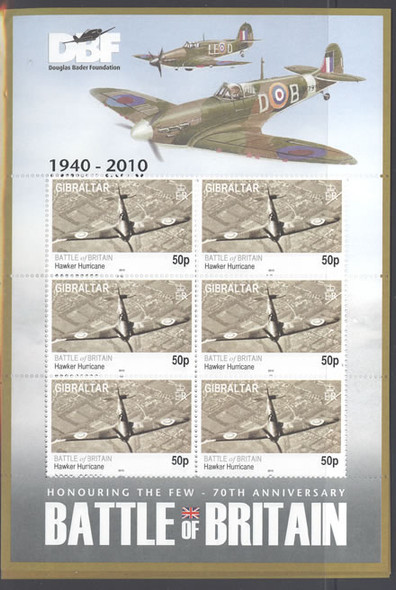 GIBRALTAR- Battle of Britain- mini-sheet of 6 (6)