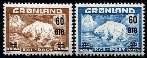 GREENLAND (1956)- Polar Bear Surcharges- SCV>$75!