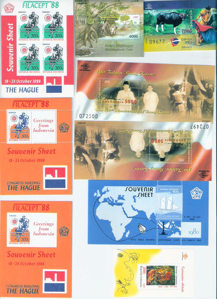 HUNGARY LOT SS, Sets MNH Indvidual Values To cv$ 18 NOT ALL shown, 26 SS, 58 sets/single issues. Catalog value is over $235. All in individual glassines. 1990-2001.