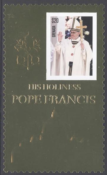 GRENADA (2013) - Pope Francis Gold Foil Souvenir Sheet
