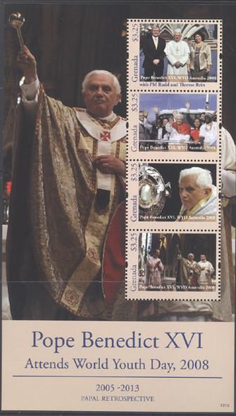 GRENADA (2013)- Pope Benedict XVI World Youth Day Australia- Sheet of 4