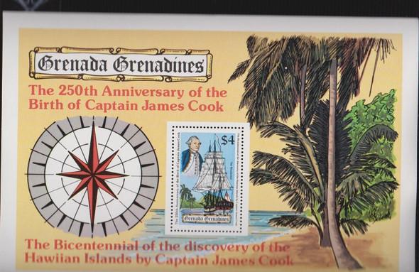 GRENADA GRENADINES  250th Anniversary Capt. James Cook Sheet