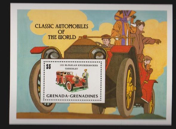 GRENADA GRENADINES (1983) Classic Automobile SS Sheet