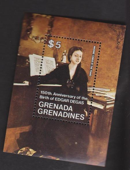 GRENADA GRENADINES (1984) Birth Of DEGAS SS