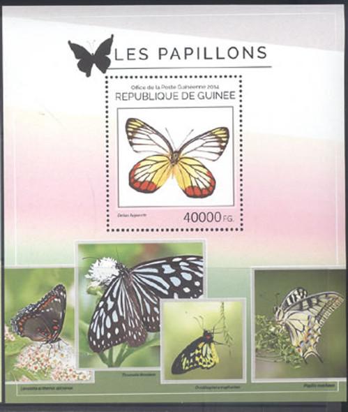 GUINEA: Butterflies 2014- souvenir sheet - Delias hyparete