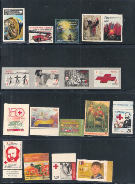 : MODERN RED CROSS/FIRE & RESCUE COLLECTION- 11 SHEETS 14 SETS