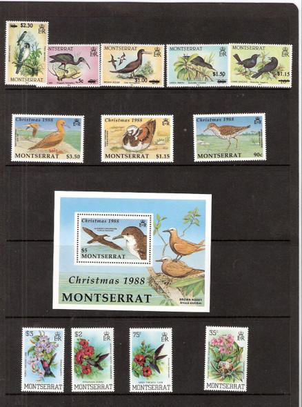 Montserrat: MONTSERRAT (1983-8) - BIRD COLLECTION- 12v+ Sheet (