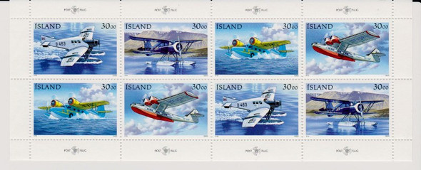 ICELAND (1993) AIRPLANES AVIATION FULL Sheet