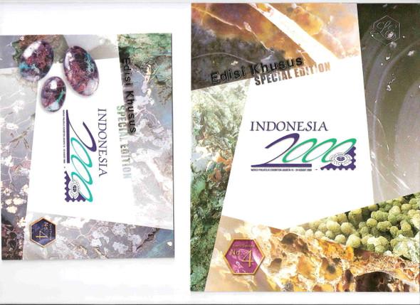 Indonesia 2000 - Gemstones Special Folders of Sheetlet & s.s