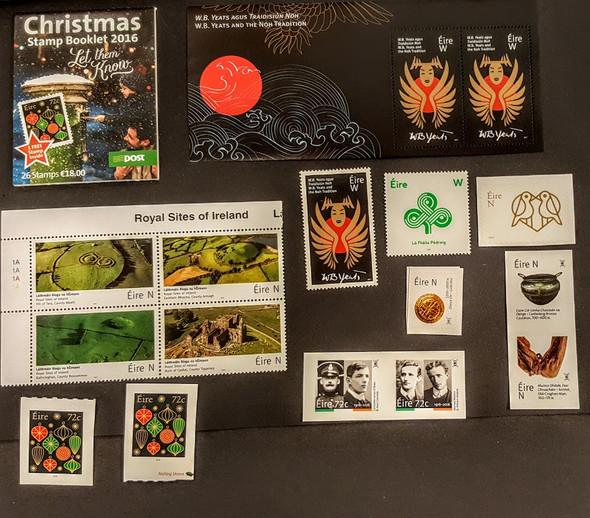 IRELAND COLLECTION 2016 & 2017 ISSUES- 10 ITEMS-ORG RETAIL>$86!