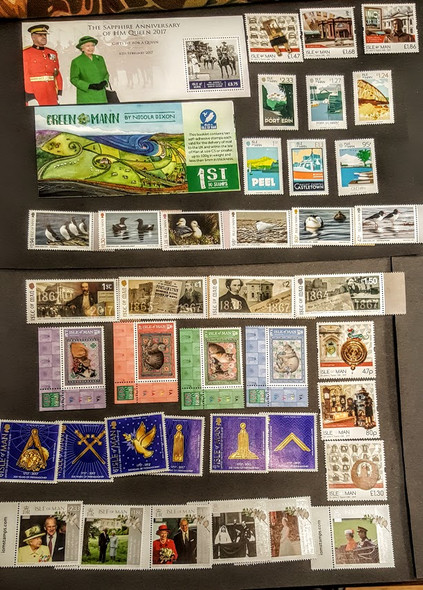 ISLE OF MAN 2017 COLLECTION- 7 sets, 1 sheet+ 1 booklet- Great Topics!