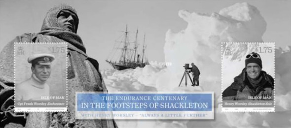 ISLE OF MAN(2016)  Henry Worsley Endurance Centenary- Sheet of 2