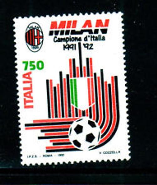 ITALY (1992) SOCCER,Milan (1v)