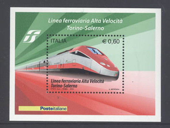 ITALY- High Speed Railway- souvenir sheet