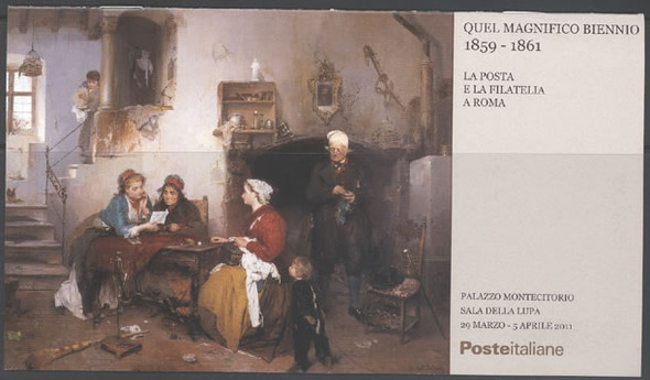 ITALY- Quel Magnifico Bienno Exhibition Booklet- self-adhesive- stamp on stamp