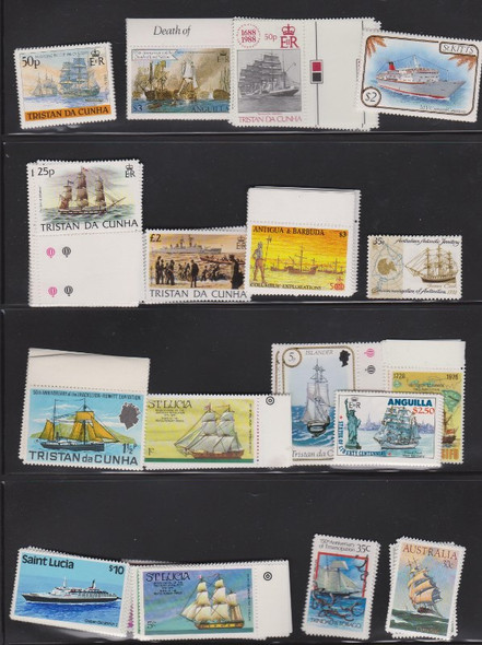 : SHIPS! Boats! 38 MINT Sets SCV to $11 All British Commonwealth