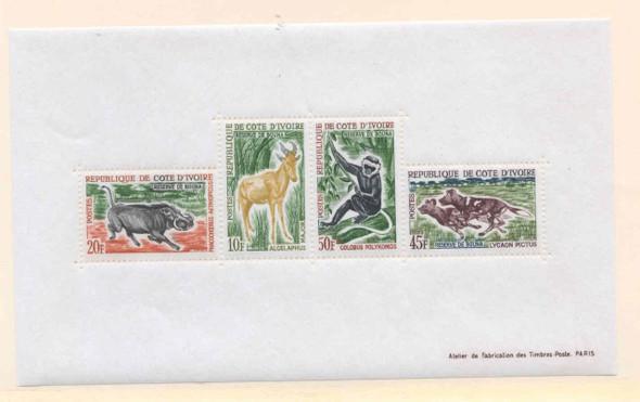 IVORY COAST (1964)- WILDLIFE SHEET-SCV=$35!