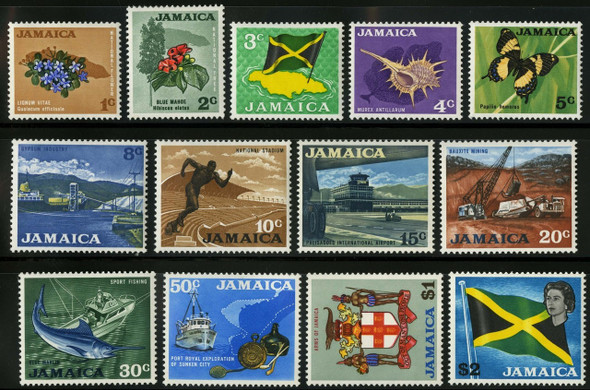 JAMAICA (1970)- MINING,BUTTERFLY,FISH DEFINITIVES-SCV=$24.50!